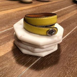 Coach leather wrap bracelet - see note